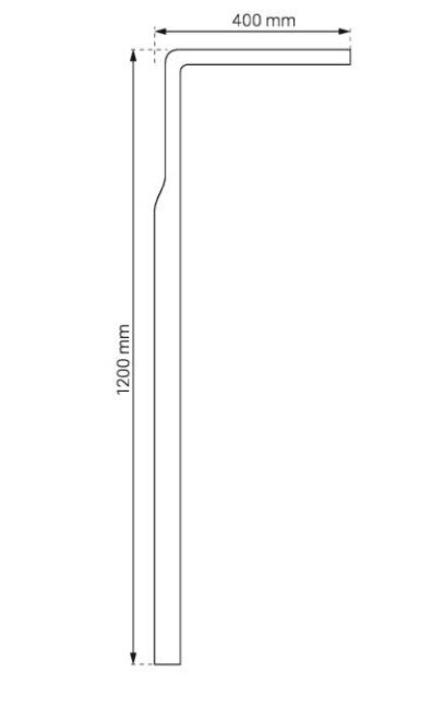 DURASAN - Panel natryskowy MV-X 167 z dyszami masującymi