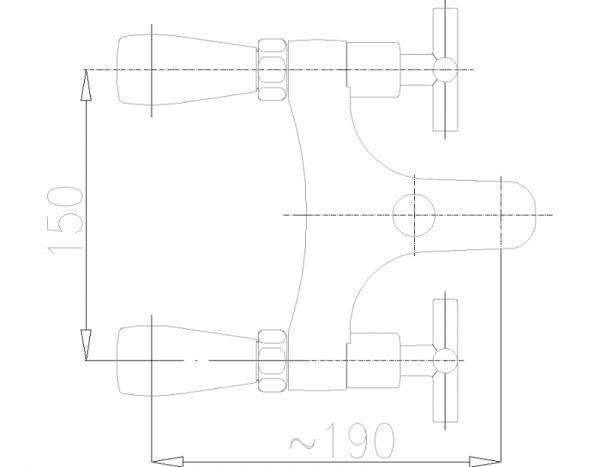 ARMATURA KRAKÓW - Symetric wannowa stojąca 2-otworowa 345-010-00