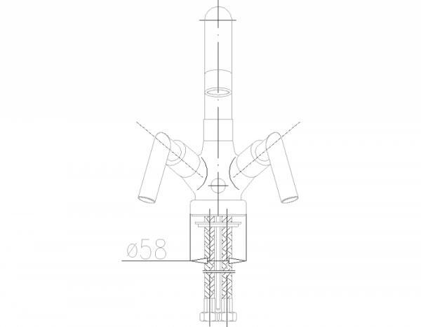 ARMATURA KRAKÓW - Harmonic Bateria umywalkowa stojaca 342-325-00