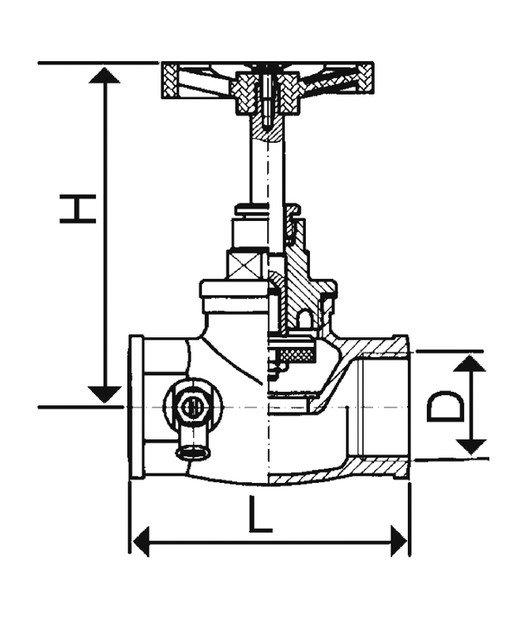 ARMATURA KRAKÓW - Zawór przepływowy żeliwny 1 1/4' 193-010-32