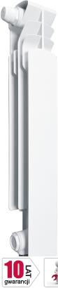 ARMATURA KRAKÓW element lewy G500F /D z dolnym zasilaniem krzyżowym z zespołem przyłączeniowym kątowym 878-152-44 grzejnik