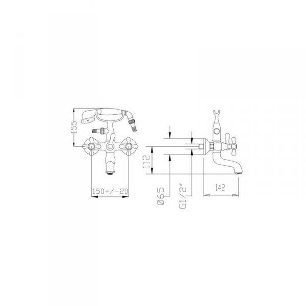 FROMAC - bateria wannowa VICTORIAN 2210V brąz