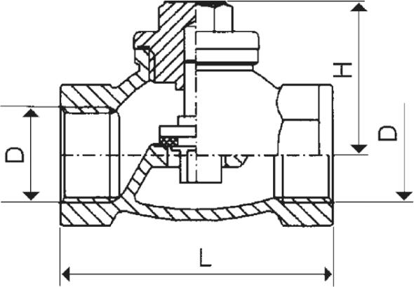 ARMATURA KRAKÓW - zawór zwrotny żeliwny do wody 192-010-15