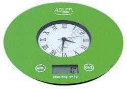 Waga elektroniczna z zegarem Adler AD 3144 ***NISKI KOSZT DOSTAWY*** BEZPŁATNY ODBIÓR OSOBISTY!!!