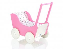 Sweet Dolly Puppenwagen, Sternchen, Rosa 3-tlg.