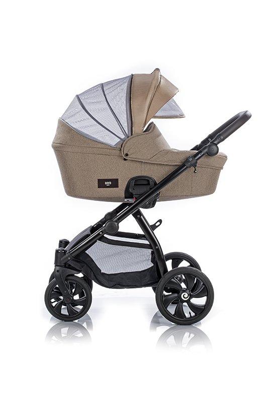 AERO TUTIS Wine | Kombi-Kinderwagen 2 in 1 mit Liegewanne und Sportwagen | oder 3 in 1 mit Autoschale