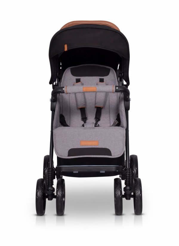 Zwillings-/ Geschwisterbuggy | Zwillingswagen TWIN FUSION | Light Grey
