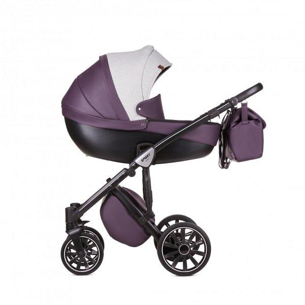 ANEX DISCOVERY/ SPORT  lavender Filed | Kombi-Kinderwagen 2 in 1 mit Liegewanne und Sportwagen | oder 3 in 1 mit Autoschale