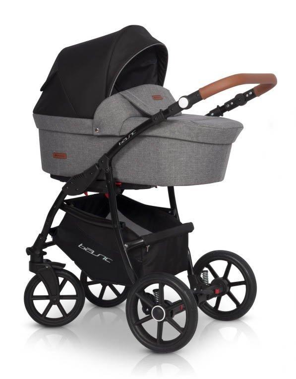 Classico BASIC | 2 in 1 mit Liegewanne und Sportwagen | oder 3 in 1 mit Autoschale | Kombi-Kinderwagen | Anthracite