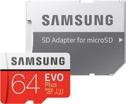 Samsung 32GB microSDHC Evo Plus + Adapter SD