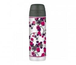 Kubek termiczny ze słomką Thermos Style 530 ml (stalowy/szary) motyw kwiat wiśni