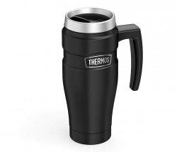 Kubek termiczny Thermos Travel King 470 ml z rączką (czarny)