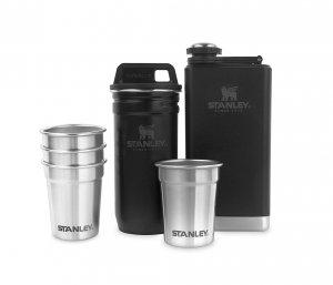 Zestaw STANLEY piersiówka Adventure Steel Shots + Flask Gift Set (czarny)
