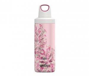 Butelka termiczna Kambukka Reno 500 ml (Monstera Leaves) różowy