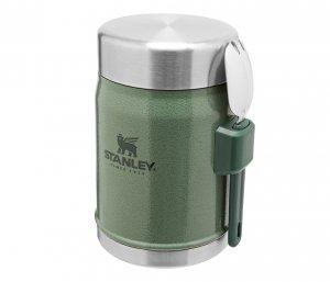 Termos na posiłek STANLEY Classic 400 ml ze sztućcem (zielony)