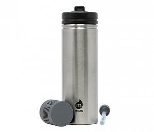 Butelka z filtrem do wody M9 820 ml MIZU 360 Adventure Kit (stalowy) nanotechnologia NASA