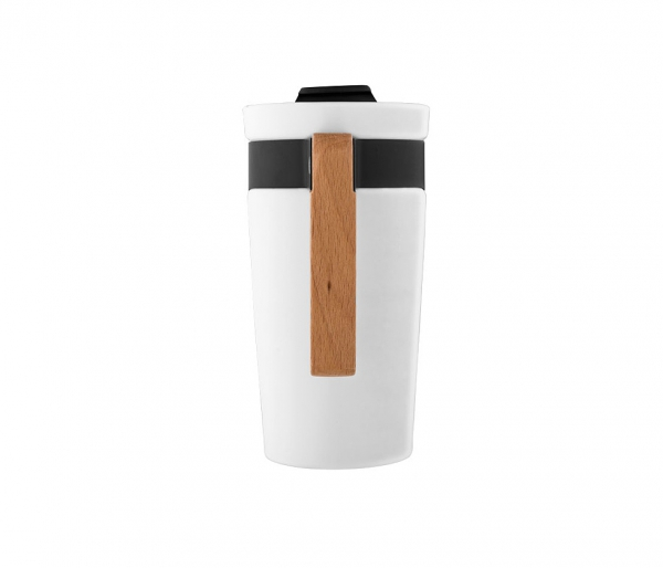 Kubek ceramiczny z drewnianą rączką glory