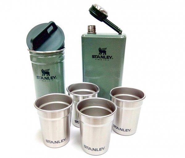 Zestaw STANLEY piersiówka Adventure Steel Shots + Flask Gift Set zielony