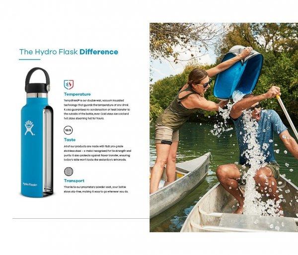 Butelka termiczna Hydro Flask 621 ml Standard Mouth Flex Cap Skyline bordowy-brick vsco