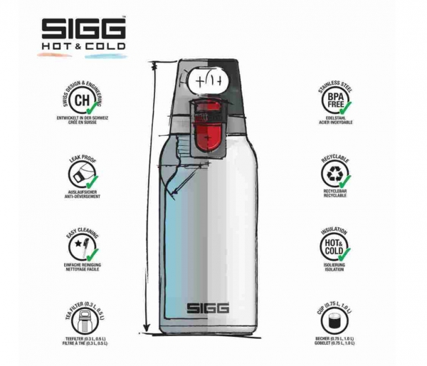 Butelka termiczna SIGG HOT&COLD ONE TOP 300 ml stalowy