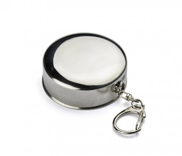 Kieliszek stalowy składany VOLT 65 ml brelok srebrny