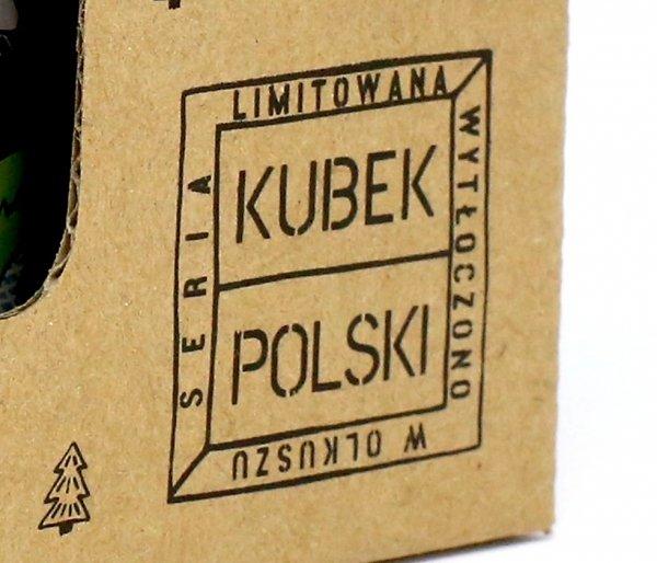 Kubek Polski Rowerowy emaliowany 350 ml biały