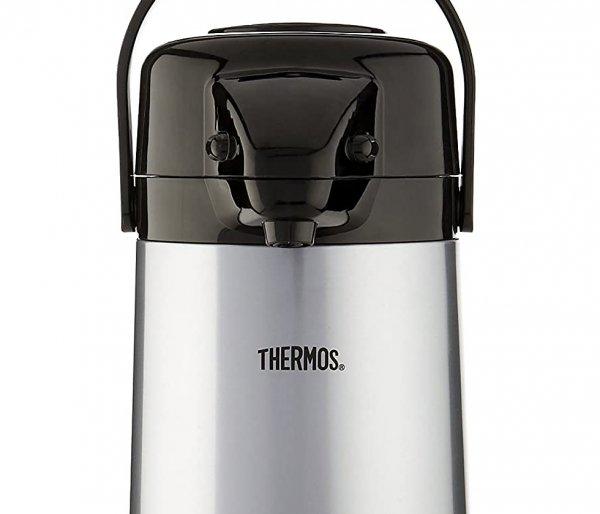 Termos szklany z pompką Thermos 1900 ml srebrny