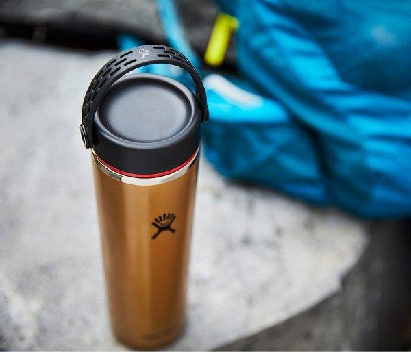 Butelka termiczna Hydro Flask 709 ml LIGHTWEIGHT WIDE FLEX CAP obsidian brązowy