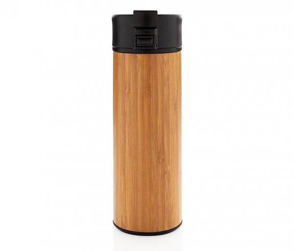Kubek termiczny z bambusa i stali 450 ml AMBEO PROTECT szczelny bambusowy