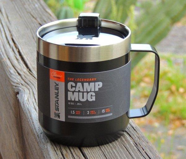 Kubek termiczny kempingowy Stanley Classic Camp Mug 350 ml czarny