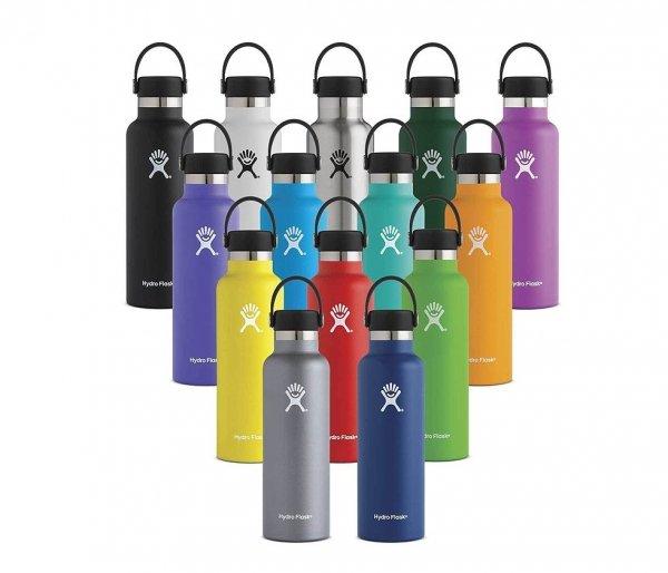 Butelka termiczna Hydro Flask 709 ml Standard Mouth With Flex Cap niebieski-pacific