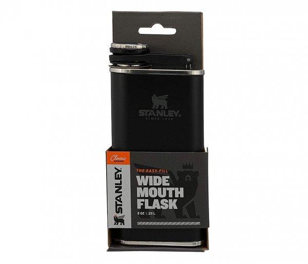 Piersiówka STANLEY Classic Easy Fill Wide Mouth Flask 230 ml czarny
