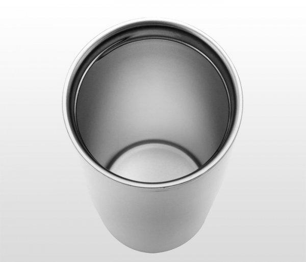 Kubek termiczny 390 ml LADY PLUS (biało-czerwony)