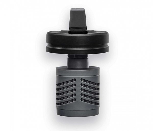 Kubek termiczny z filtrem do wody V7 650 ml MIZU 360 Adventure Kit (czarny) nanotechnologia NASA