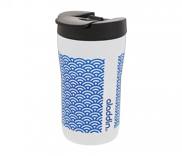 Kubek termiczny Aladdin Latte Leak-Lock 250 ml biały - wzór niebieski