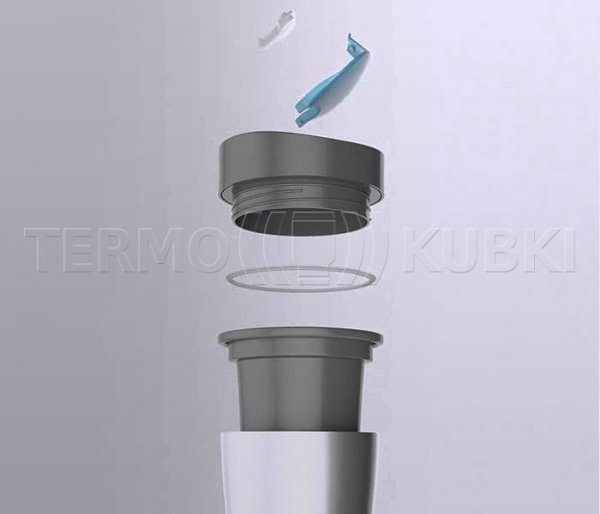 Kubek termiczny 225 ml ECOTERM (zielony/szary)