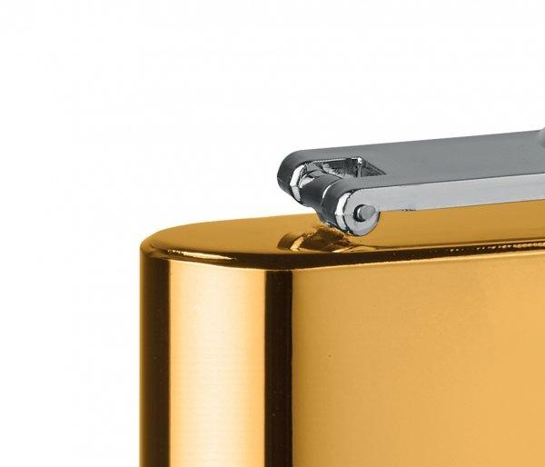 Piersiówka stalowa złoty chrom 180 ml FLASKY złoty