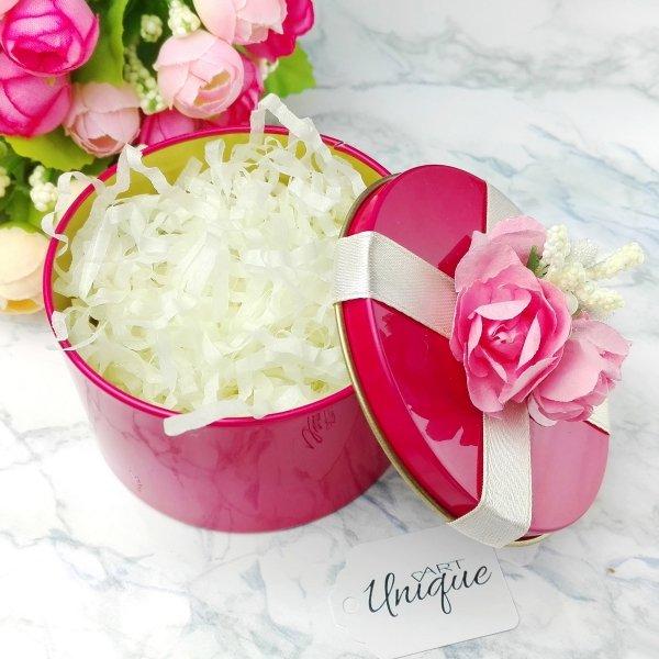 Pudełeczko podarunkowe puszka • róż