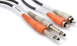 HOSA CPR 202 - KABEL TS 6,35 - 2 x RCA 2M