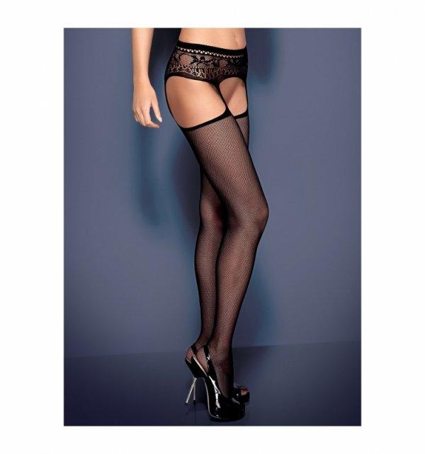 Garter stockings S307 czarne S/M/L