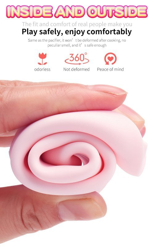 Wibrator-Silicone Vibrator USB 7 Function and Thrusting Function / Heating, pink