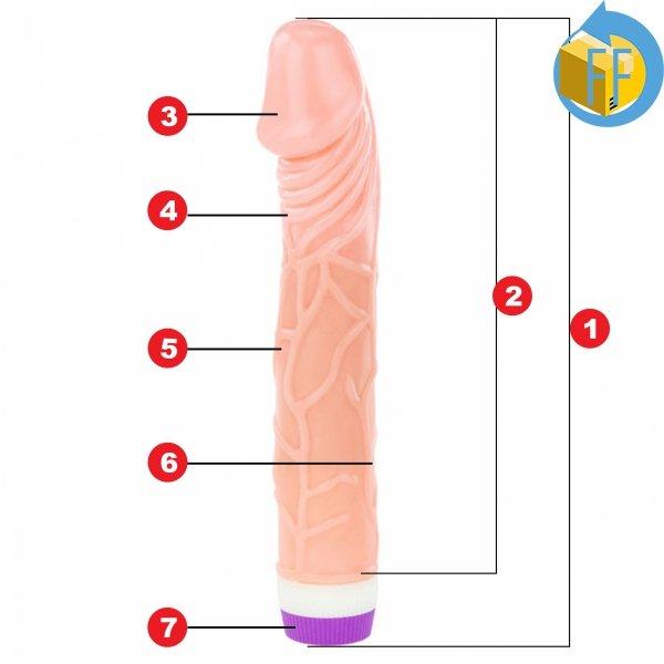 GREG Realistyczny wibrator w dotyku jak penis