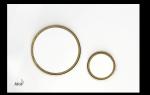 Przycisk biały-połysk / złoty-połysk Thin M775