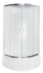 Kabina prysznicowa półokrągła Modern 165 niska 80x80 cm grafitowa