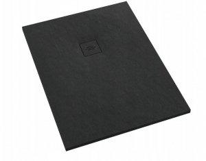 Brodzik prostokątny kompozytowy Schedline PROTOS Black Stone 90x80