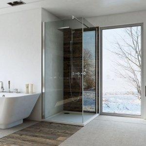 Kabina kwadratowa bezprofilowa 80x80 chrom szkło transparentne z powłoką Clean Glass