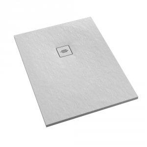 Brodzik prostokątny kompozytowy  Schedline PROTOS White Stone 100x80