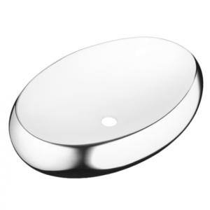 Umywalka nablatowa Fresco biały/chrom CE-31-001