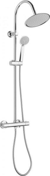 Deante Neo Fresh zestaw prysznicowy ścienny z deszczownicą chrom NBF051T