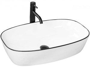Umywalka ceramiczna nablatowa Jovita 60x38